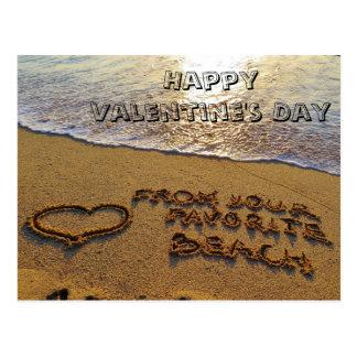 Cartão Postal Coração engraçado da praia da chalaça do dia dos