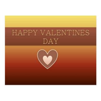 Cartão Postal Coração feliz do dia dos namorados