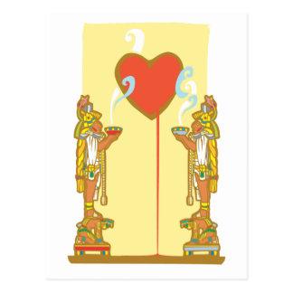 Cartão Postal Coração maia