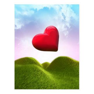 Cartão Postal Coração no céu