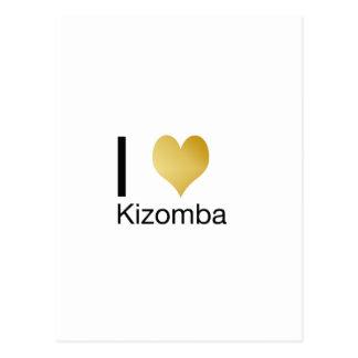 Cartão Postal Coração Playfully elegante Kizomba de I