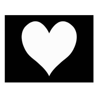 Cartão Postal Coração preto e branco