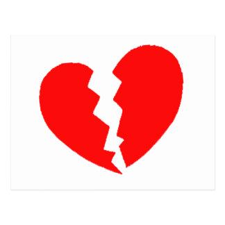 Cartão Postal Coração quebrado