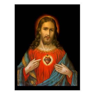 Cartão Postal Coração sagrado de Jesus c1899 Alemanha