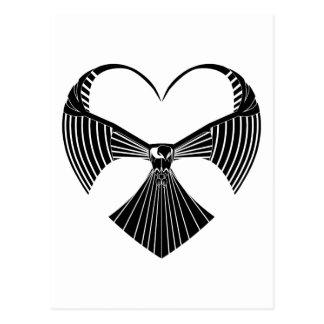 Cartão Postal Coração tribal Postcar do dia dos namorados de