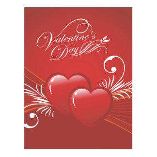 Cartão Postal Corações abstratos do feliz dia dos namorados