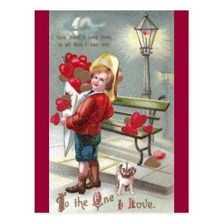 Cartão Postal Corações de O dos lotes e namorados do filhote de