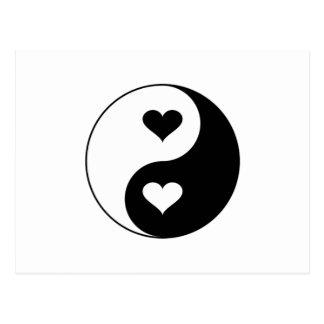 Cartão Postal Corações de Yin Yang
