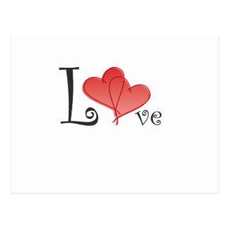 Cartão Postal Corações do amor