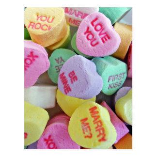 Cartão Postal Corações dos doces