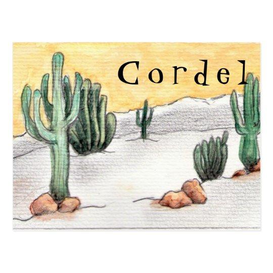 Cartão Postal - Cordel e Cactos