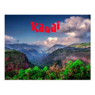 Cartão Postal Cordilheira tropical de Kauai Havaí