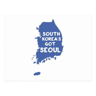 Cartão Postal Coreia do Sul obtida Seoul