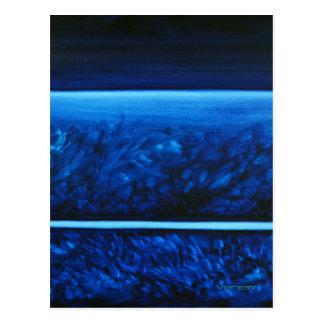 Cartão Postal Cores curas Notecard/cartão - azul de acalmação