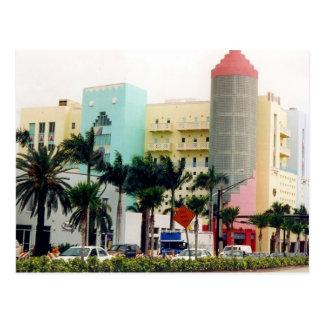 Cartão Postal cores de miami