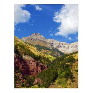 Cartão Postal Cores do outono do vale do Telluride