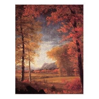 Cartão Postal Cores do outono do vintage