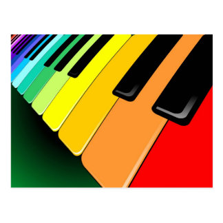 Cartão Postal Cores do partido da música do teclado
