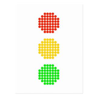 Cartão Postal Cores do sinal de trânsito do ponto