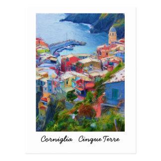 Cartão Postal Corniglia Cinque Terre Italia