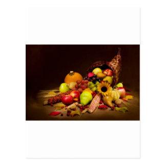 Cartão Postal cornucopia da fruta e da cabaça