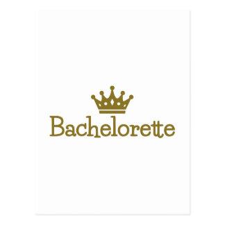 Cartão Postal Coroa de Bachelorette