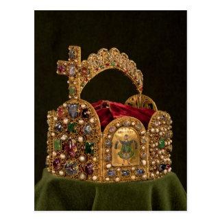 Cartão Postal Coroa imperial feita para a coroação de Otto