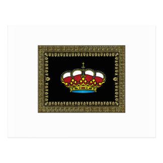 Cartão Postal coroa quadro preto da glória
