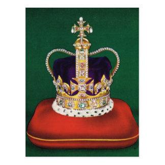 Cartão Postal Coroa usada no coronastion da rainha Elizabeth II