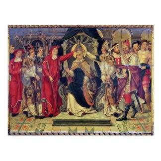 Cartão Postal Coroação do papa Celestine V em agosto de 1294