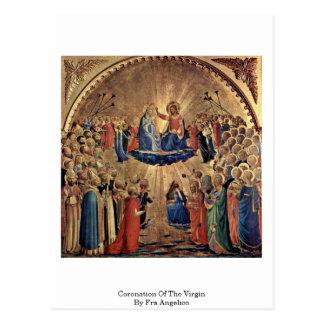 Cartão Postal Coroação do Virgin por Fra Angelico