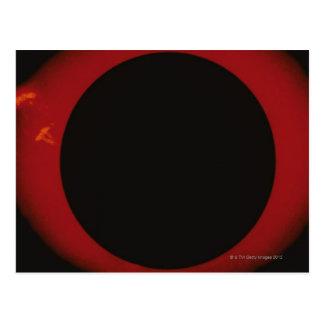 Cartão Postal Corona vermelha de incandescência