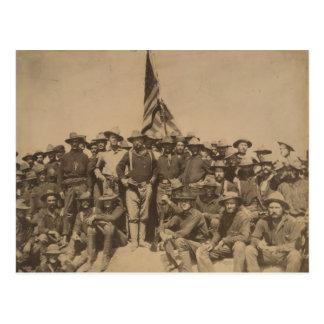 Cartão Postal Coronel Roosevelt e seu Rough Riders