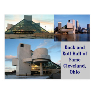 Cartão Postal Corredor da fama Cleveland do rock and roll, Ohio