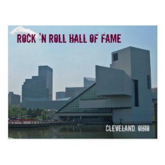 Cartão Postal Corredor da fama Cleveland Ohio do rock and roll