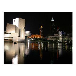 Cartão Postal Corredor da fama Cleveland Ohio do rock and roll