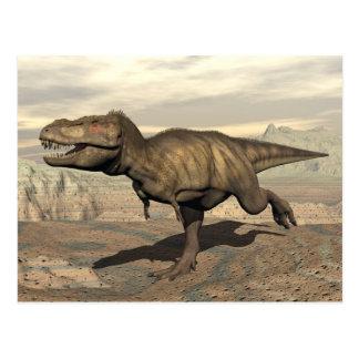 Cartão Postal Corredor do tiranossauro - 3D rendem