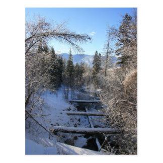 Cartão Postal Córrego do inverno