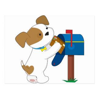 Cartão Postal Correio bonito do filhote de cachorro