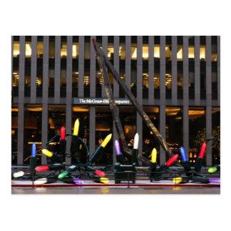 Cartão Postal Corrente da Nova Iorque das luzes