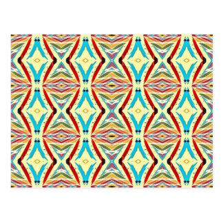 Cartão Postal Correntes abstratas coloridos. Teste padrão