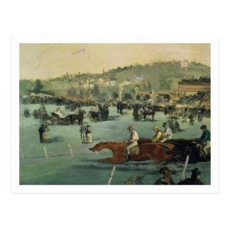 Cartão Postal Corrida de cavalos de Manet |, 1872