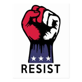 Cartão Postal Corrupção política da luta do punho da resistência