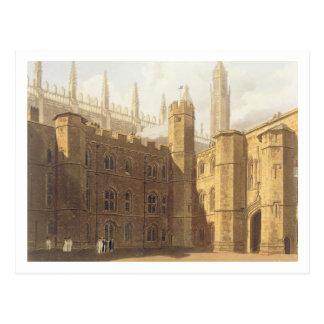 Cartão Postal Corte da Faculdade do rei, Cambridge, 'do Hist