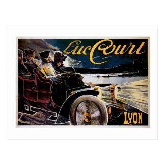 Cartão Postal Corte de Luc - propaganda do automóvel do vintage