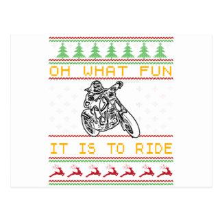 Cartão Postal corte do design da motocicleta