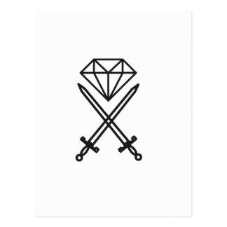 Cartão Postal Corte do diamante
