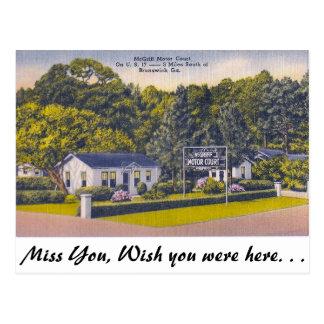 Cartão Postal Corte do motor, Brunsvique, Geórgia
