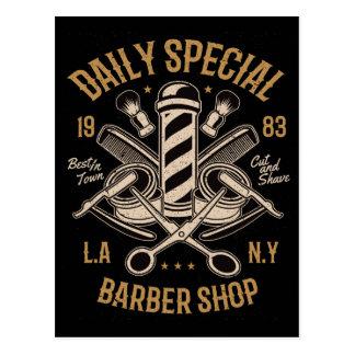 Cartão Postal Corte e Shave especiais diários da barbearia