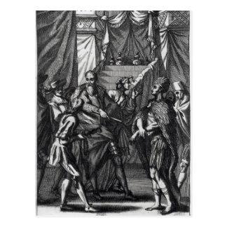 Cartão Postal Cortes e Montezuma